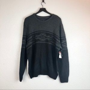Route 66 Knit Sweater XL Aztec pattern Pullover